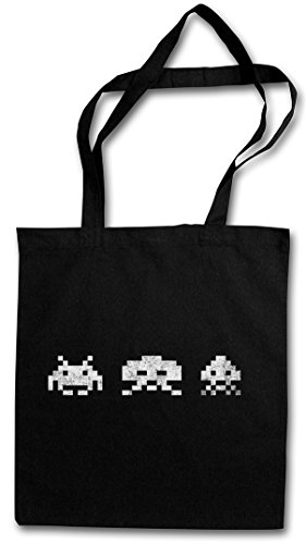 DIGITAL INVADERS HIPSTER BAG ? Spiel Arcade Game Retro Nerd Alien VG Sprite Space 80s Eighties Konsole Console (Arcade-spiel Aliens)