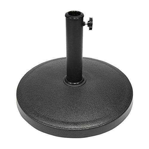 Garden kraft 16960 lentille et classique Base de parasol en résine – Noir