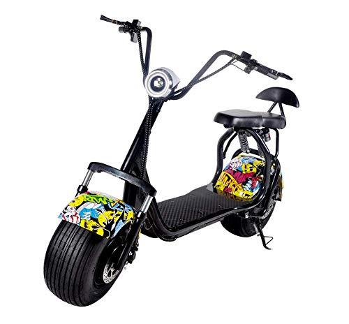 OOBY Q3 Harley Motocicleta Eléctrica Adulto Scooter-Múltiples Colores para Elegir-20A,Streetdance