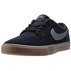 Nike Men's Sb Portmore Ii Solar Skateboarding Shoes, Black (Blackdark Greygum Light Brown 009), 8.5 Uk