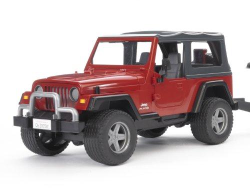 Imagen principal de Bruder 2924 - Jeep Wrangler de juguete con remolque y Caterpillar