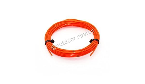 10M fil nylon orange pour débroussailleuse rond 4mm