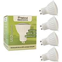 4x National Electronics®   GU10 3.5W 320 lumen LED  