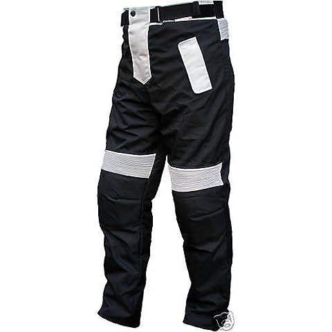 German Wear–Pantalones de motorista Cordura Textiles Pantalón de Motorista Combi Pantalón,
