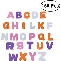 ULTNICE Self Adhesive Letters Alphabet Decals 150pcs Foam Letter Stickers for Kids Nursery Kindergarten