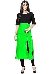 Vatsla Enterprise Women's Cotton Kurta (DMKBLC_3_Black_Free Size)