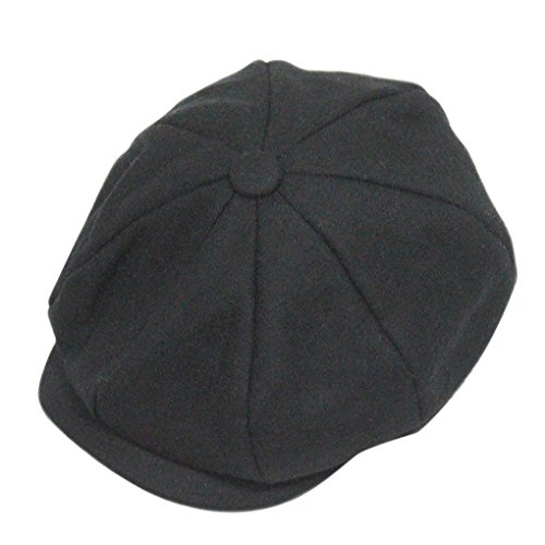 FakeFace Trendige Unisex Schiebermütze Flatcap Flache Kappe Modehut (Newsboy Männer Kostüm)