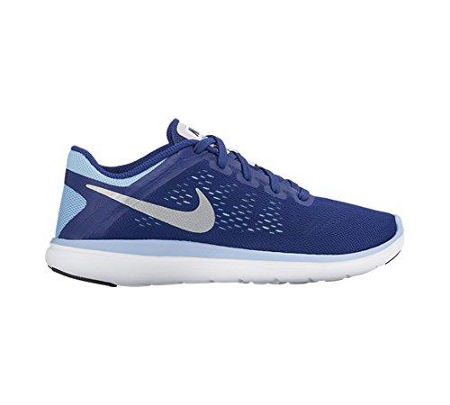 Nike Flex 2016 Rn (Gs), Scarpe da Corsa Bambina Azul (Deep Royal Blue / Metallic Silver-Black)