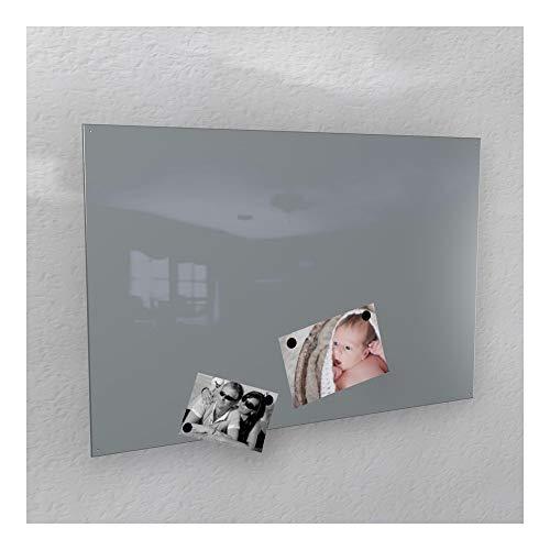 Hochglanz Glas (Magnetwand hochglanz - 4 verschiedene Größen und 20 verschiedene Farben *MADE IN GERMANY* (60 x 90 cm, RAL 7040 fenstergrau [wie grau]))