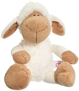 Nici 35771 - Dress your Friends - Schaf aus Plüsch, Schlenker, 25 cm, weiß/braun