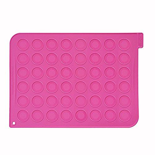 Silikomart MAC01Tapete macarons + 24 mangas pasteleras desechables, color fucsia width=