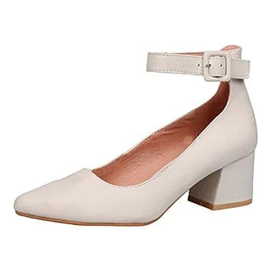 fe15cc8cb2d8 Feet First Fashion Annalise Womens Low Mid Block Heel Ankle Strap ...