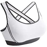 Women Padded Bra Racerback Top Athletic Vest 1pc Gym Fitness Sports Yoga Stretch