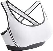 Women Padded Bra Racerback Top Athletic Vest 1pc Gym Fitness Sports Yoga Stretch
