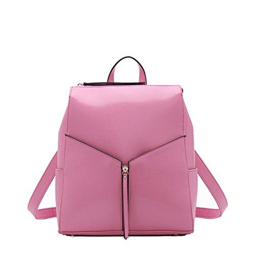 Borsa A Tracolla Signora Di Cuoio Di Modo Multicolore Pink