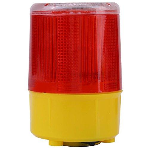 Solar LED Waring Licht,Jectse Kunststoff Solarwarnleuchte Solar-LED-Warnlicht Solar Alarm Licht,ideal für den Einsatz auf der Straße,im Boot usw -