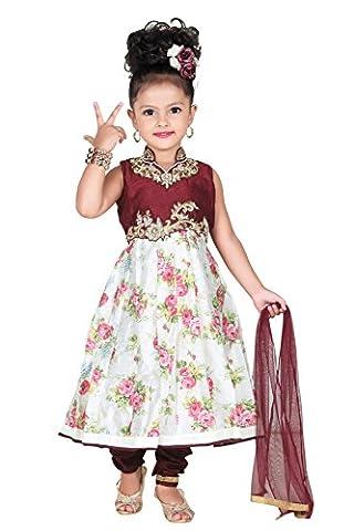 Baby Girl Salwar Suit New Born Infant Frock Suit Churidar Dress Wedding Prom Partywear + Leggings Toddler Ethnic Traditional Dupatta Suit