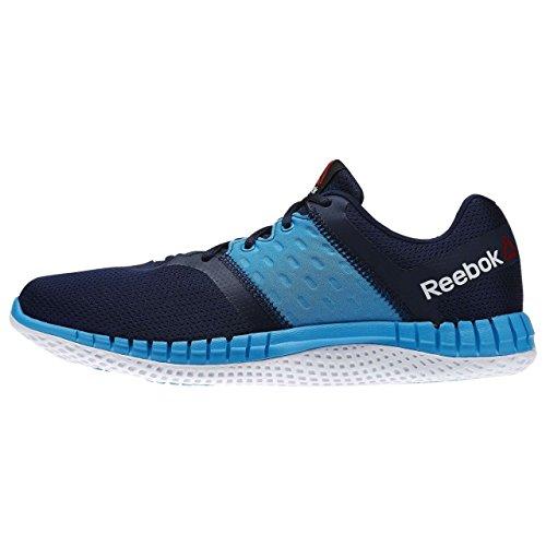 Reebok Zprint Run Neo, Chaussures de Running Entrainement Homme Bleu - Azul  (Collegiate Navy / Wild Blue / White)