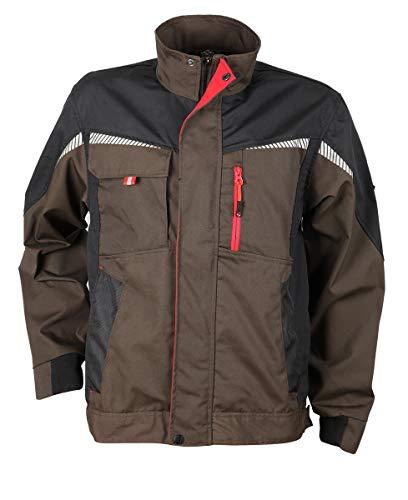 Prisma® - Herren Multifunktionale Arbeitsjacke Bundjacke - reflektierende Streifen - Enge Passform - Braun 46