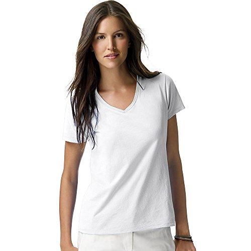 Hanes T-shirt nano-t à col en V pour homme Blanc