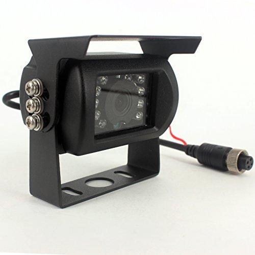 CAMSLEAD 1/3 CCD Farbbildsensor, Rückfahrkamera mit 18 eingebauten Infrarot-LED, Nachtsicht, wasserdicht, für Wohnmobil, Bus, LKW, Anhänger, Harvester ZHIREN