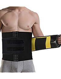 359236ec16 TINGSU Hombres Corsés De Entrenador De Cintura Cinturón para el Sudor  Caliente Traje de Sauna Aptitud