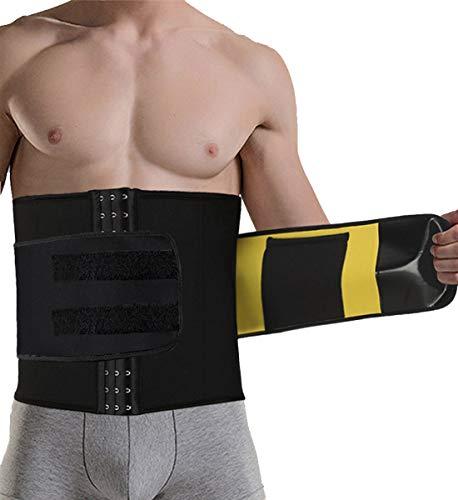 TINGSU Taillenkorsetts für Männer Hot Sweat Ab Gürtel Sauna-Anzug Fitness Fat Burner Magenverpackung Trainieren Sport Gewichtsverlust (Männer Für Ab Gürtel)