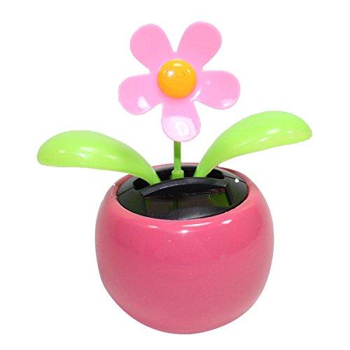 Pixnor energia solare HAPPY Dancing fiori nel vasetto (Rosa)