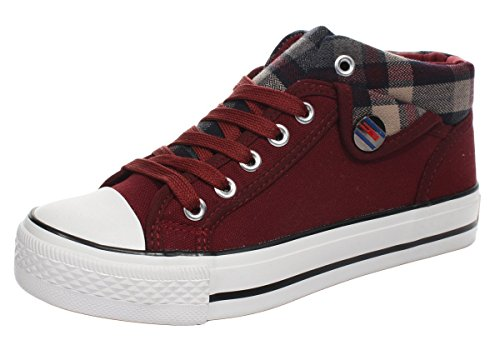 imayson-casual-fashionable-lace-up-plaid-plats-sneaker-canvas-shoes-uk-65-color-winered