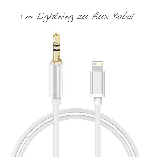 Lightning zu AUX Kabel | Verbindet das iPhone mit jeder Anlage & Musik-Box | Connector zwischen...