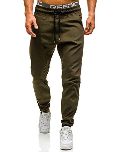 BOLF – Pantaloni – Baggy – ATHLETIC 0399 – Uomo Verde