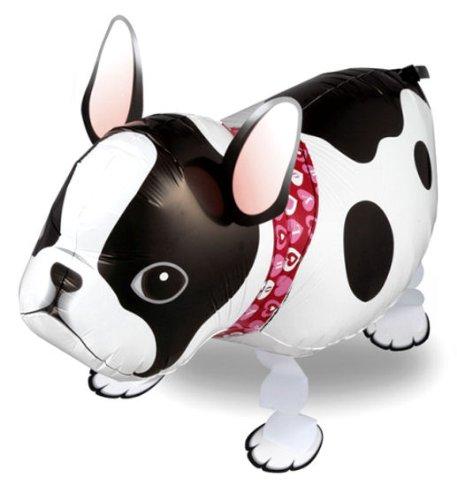 1 Stück AirWalker 'French Bulldog - Französische Bulldogge' - Folienballon, ohne LOLLIPOP®-Gasfüllung