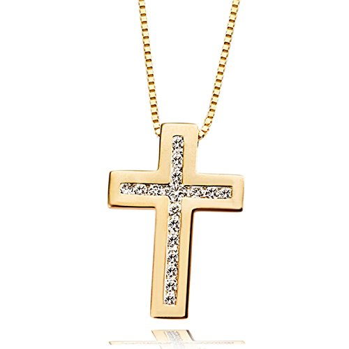 Goldmaid Halskette Kreuz