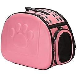 YAMEIJIA Perros/Conejos / Gatos Transportines Y Mochilas De Viaje Mascotas Portadores Portátil/Mini / Viaje Un Color Azul/Rosa / Negro,Pink