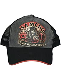 Sons of Anarchy Samcro Men of Mayhem Trucker Grey Adjustable Baseball Chapeau