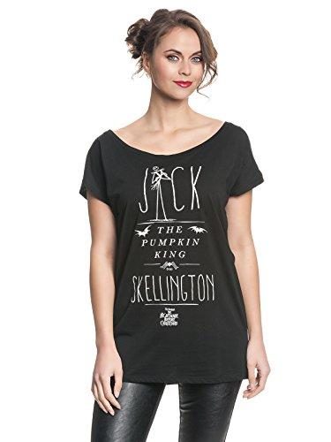 istmas Damen Oversize Shirt - Jack Pumpkin King (Schwarz) (S-L) (M) ()