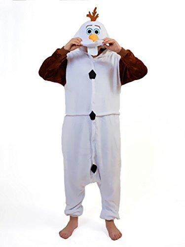 Männer Olaf Kostüm - Everglamour einteiliger Olaf-Ganzkörperanzug
