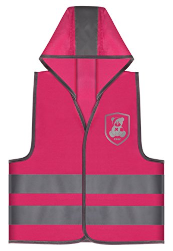 Reer 53022 MyBuddyGuard Sicherheitsweste, Motiv Elefant, pink