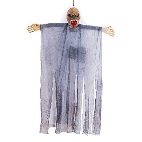 HROISJL Halloween Dekorationen Halloween Deko Voice Control Cap Gaze Ghost hängende Dekoration Festival Supplies Neue Sprachsteuerung Cap Gaze Halloween Anhänger