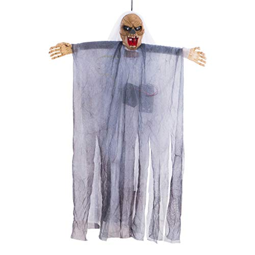 HROISJL Halloween Dekorationen Halloween Deko Voice Control