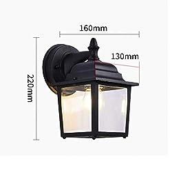 Wand Außenleuchte in schwarz Laterne 8342 Außenlampe Gartenleuchte Lampe Leuc