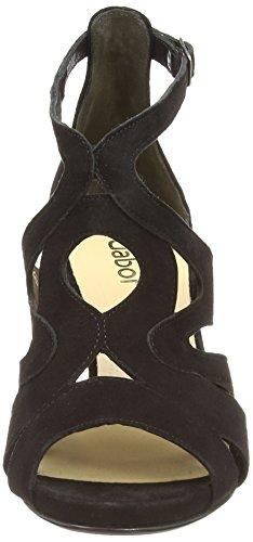 Gabor Shoes 21.820_Gabor Damen Knöchelriemchen Pumps Schwarz (schwarz (LFS rot))
