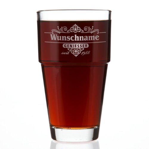 LEONARDO Trinkglas mit Geniesser-Motiv und Gratis Gravur des Namens und Jahr