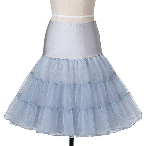 50er Jahre Petticoat Unterrock Retro Vintage Swing 1950's Rockabilly 26 Boolavard Grau
