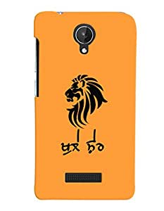 MakeMyCase Khule Sher For Micromax Canvas Spark Q380