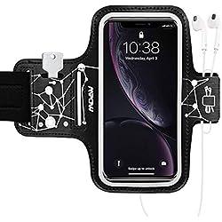 Mpow Brassard Sport Compatible avec iPhone XR/XS/8/7, Huawei P9/Lite P8/P8 Lite, GalaxyS5/S6/S7 Edge etc Jusqu'à 6,1 Pouces, Anti-Sueur, Bande Elastique et Stable
