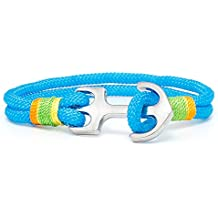 Ancla pulsera TH Anchor Nylon Paracord Color Azul Claro
