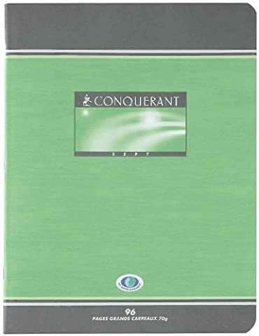 CONQUÉRANT Lot de 25 Cahiers de brouillon 17 x 22 cm 48 pages 56g Séyès Grands Carreaux