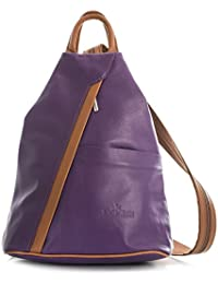 "Alex by ""LiaTalia"" Womens Mens Soft Italian Genuine Leather Convertible Strap Small Backpack Rucksack Duffle Bag"