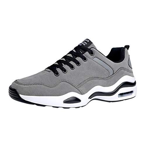 CUTUDE Herren Wild Mesh Sneakers Schuhe Mode Plattform Rutschfeste leichte Arbeitsschuhe Jogging Laufen Basketball Frühling Sommer (Grau, 43 EU) - Air Force Kleinkinder T-shirt